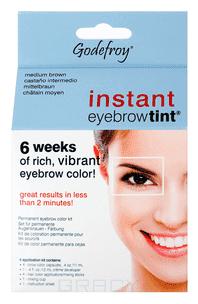 Godefroy Краска-хна в капсулах для бровей Eyebrow Tint Natural, набор 4 капсулы (5 цветов), 1 набор, Graphite (графит)