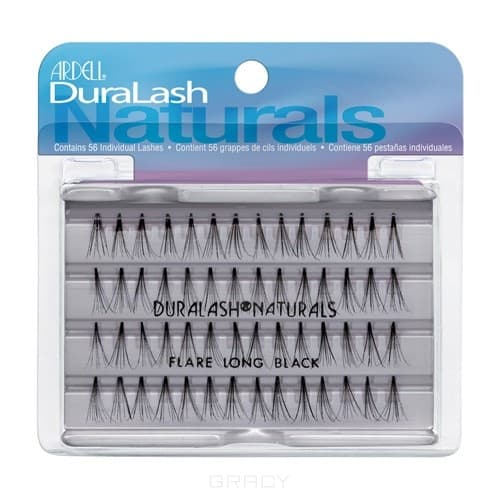 Ardell Duralash Naturals Knot-Free Flairs Long Black Пучки ресниц длинные чёрные