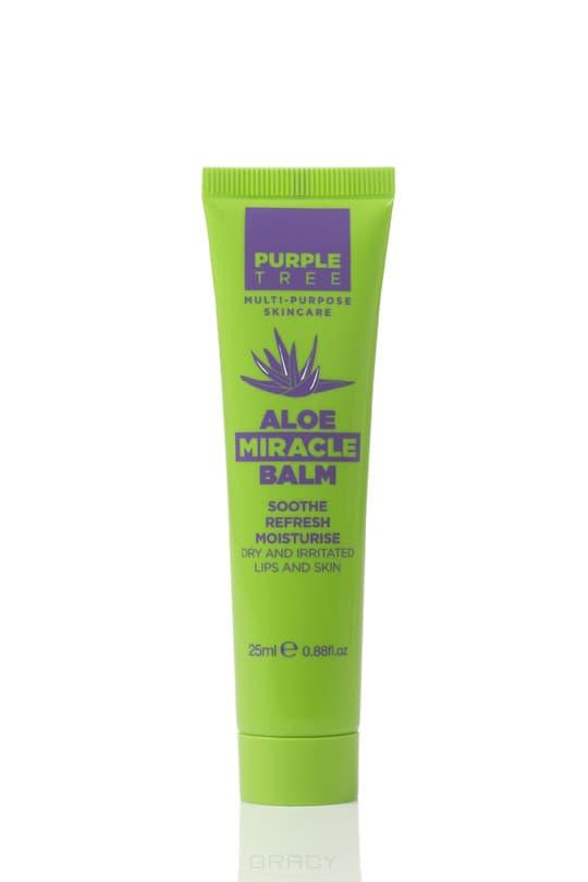 Purple Tree Бальзам для губ Алоэ Miracle Balm Aloe, 25 мл, Бальзам для губ Алоэ Miracle Balm Aloe, 25 мл, 25 мл бальзам для губ belweder бальзам жидкий aloe vera объем 7 мл