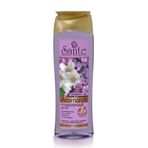 Sante Парфюм-гель для душа романтичный дуэт Сирень и жасмин, 250 мл