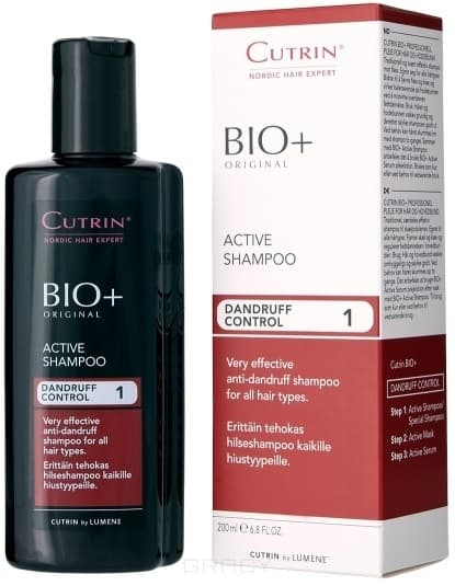 Cutrin Активный шампунь против перхоти Dandruff Control Active Shampoo, 200 мл ollin professional шампунь против перхоти anti dandruff shampoo 1000мл