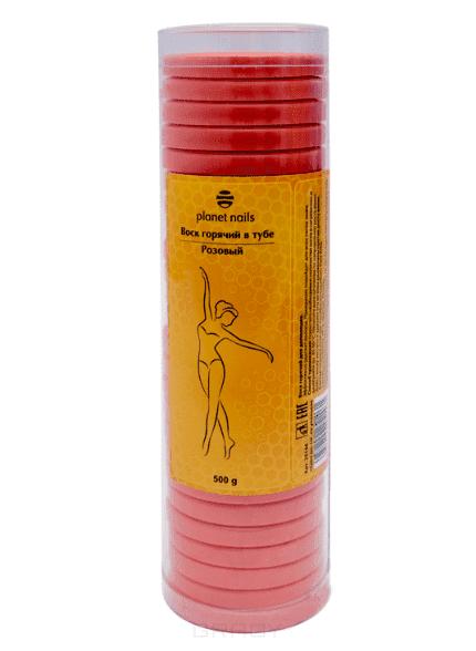 Planet Nails Воск горячий в тубе розовый, 500 г