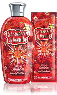 Supertan Бронзатор с экстрактом из конопли Strawberry & Vanilla, 200 мл strawberry print pencil case