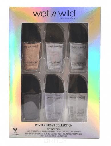 Wet n Wild Подарочный winter frost collection (e450, e451d, e33907p, e34360p, e34359p, e34358p) лаки для ногтей 5 тонов remington mb320c