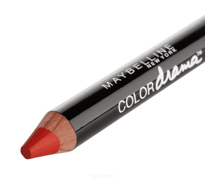 Maybelline, Помада-карандаш для губ Color Drama, 6 г (7 оттенков)  520 Спелый красный