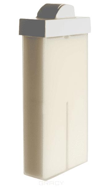 Planet Nails, Воск в картридже белый с маленьким роликом, 100 мл