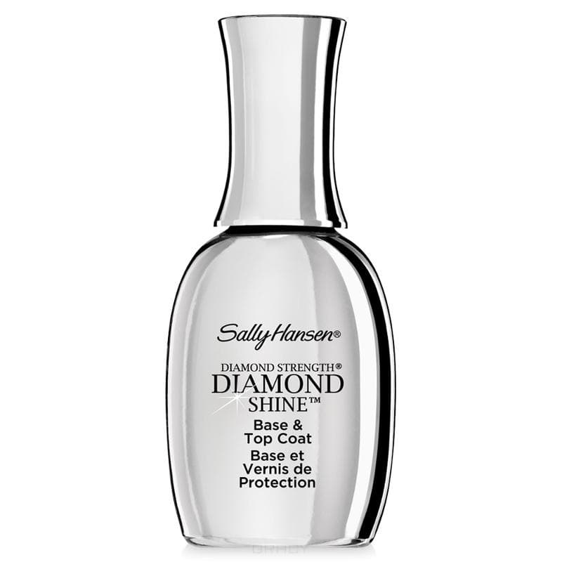Sally Hansen Средство 2  1: база и верхнее покрытие Diamond Strength  Shine Base & Top Coat Nailcare, 13. мл