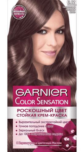 Garnier, Краска для волос Color Sensation, 110 мл (25 оттенков) 6.12 Сверкающий холодный мокко