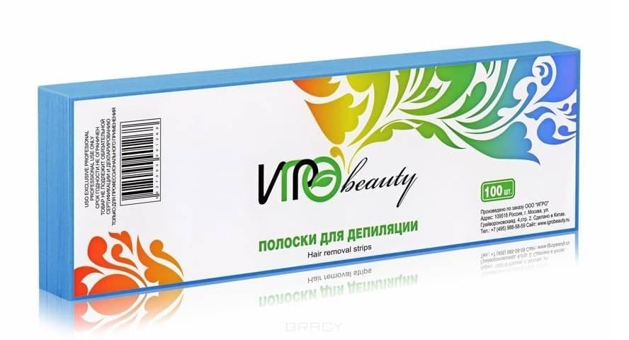 Igrobeauty, Бумага в полосках для депиляции, 7х22 см (5 цветов) Голубая
