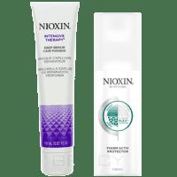 Nioxin Подарочный набор (Маска для глубокого восстановления волос 150 мл + Термозащитный спрей 150 мл) elseve маска для волос 3 ценные глины 150 мл