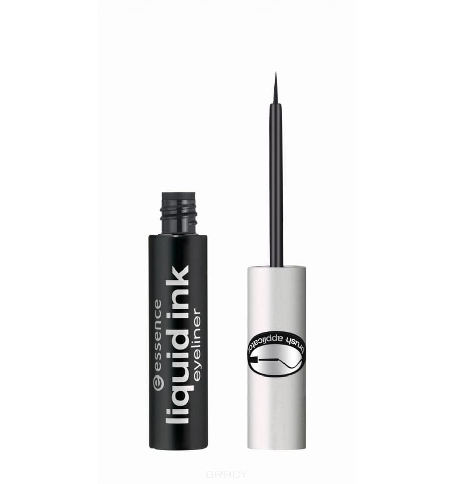 Подводка для глаз Liquid Ink Eyeliner чёрная essence liquid ink eyeliner waterproof цвет черная variant hex name 2d3132
