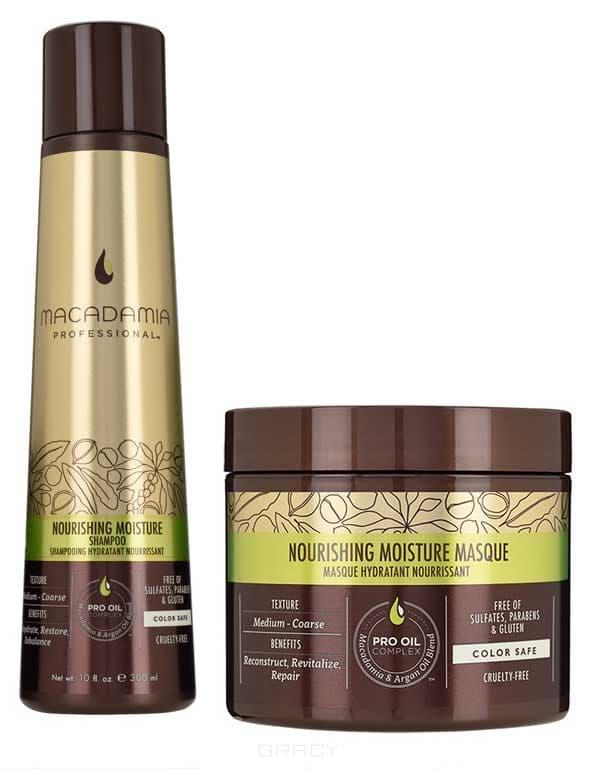 Купить со скидкой Набор для волос Шампунь и маска питательная для нормальных и сухих волос Nourishing Moisture