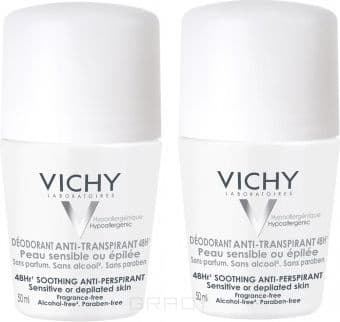 Vichy Дезодорант для чувствительной кожи 48ч дуопак, 50 мл, Дезодорант для чувствительной кожи 48ч дуопак, 50 мл, 50 мл vichy vichy дезодорант для чувствительной кожи 48 часов deodorants m6332800 2 50 мл