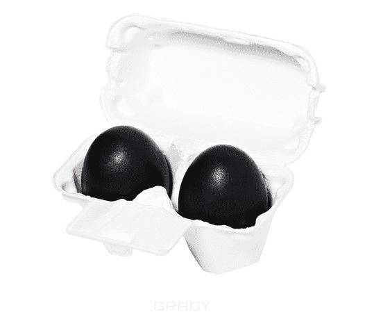 Holika Holika Мыло маска с древесным углем Charcoal Egg Soap, 50 г*2 маска holika holika мыло маска ручной работы с древесным углем holika holika