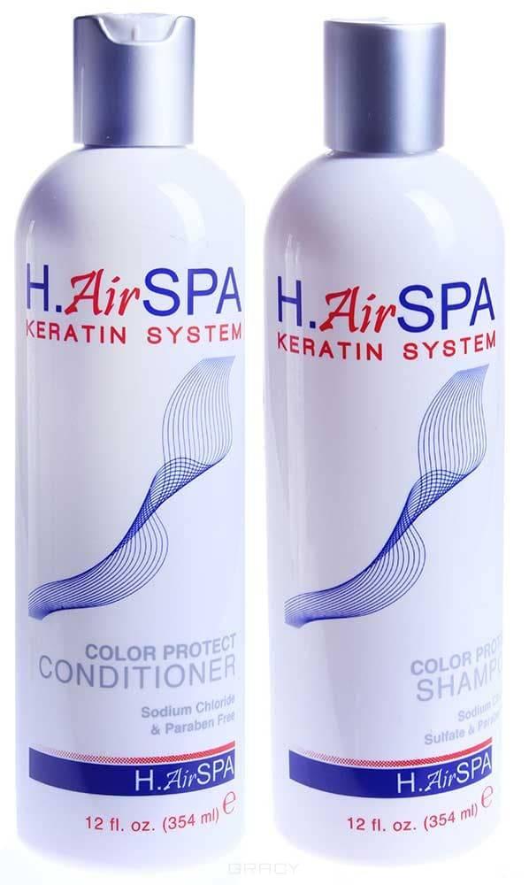 H.AirSPA Набор для волос Кератиновый шампунь и кондиционер для окрашенных волос, 355/355 мл