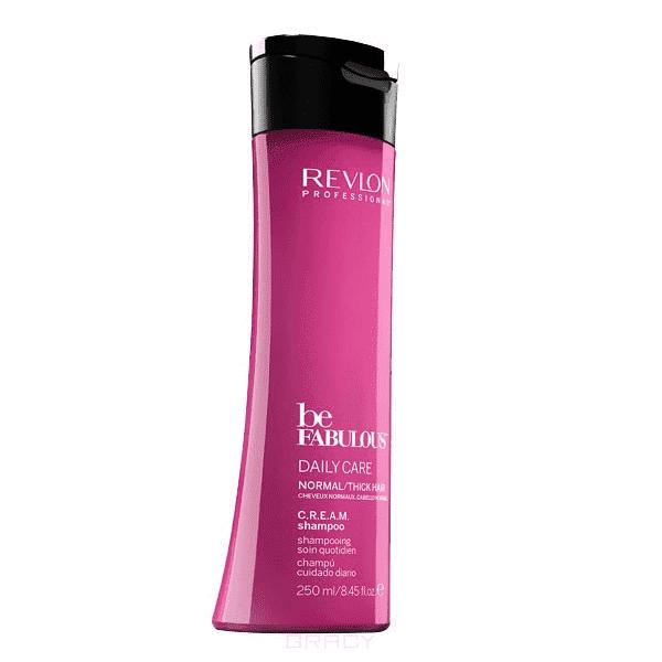 Купить Revlon - Очищающий шампунь для нормальных и густых волос Be Fabulous Daily Care Normal Hair Thick Shampoo, 250 мл