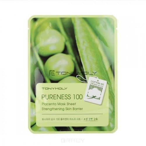Tony Moly Тканевая маска для лица с экстрактом бобов Pureness 100 Placenta Mask Sheet, 21 мл тканевая маска tony moly pureness 100 shea butter mask sheet объем 21 мл