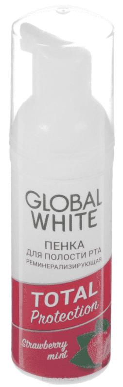 Global White Пенка реминерализирующая для полости рта Global White, 50 мл global нож для мяса global 21 см