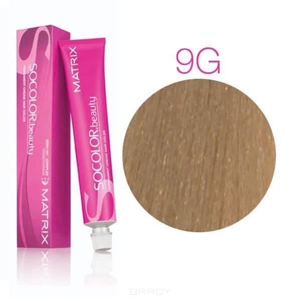 Matrix, Крем-краска для волос SoColor.Beauty, 90 мл (117 оттенков) SOCOLOR.beauty 9G очень светлый блондин золотистый
