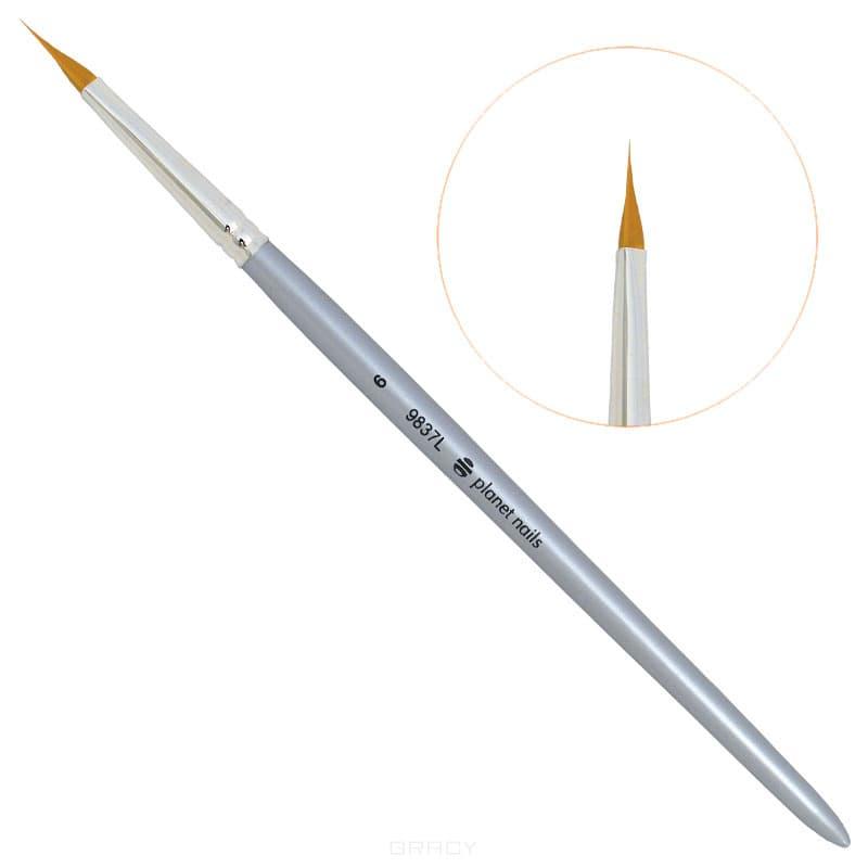 Planet Nails Кисть для дизайна треугольная № 6 planet nails кисть для дизайна веерная 1 4