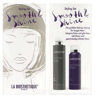 La Biosthetique Набор для стайлинга Smooth & Shine, 150/250 мл спрей labiosthetique heat protector 100 мл