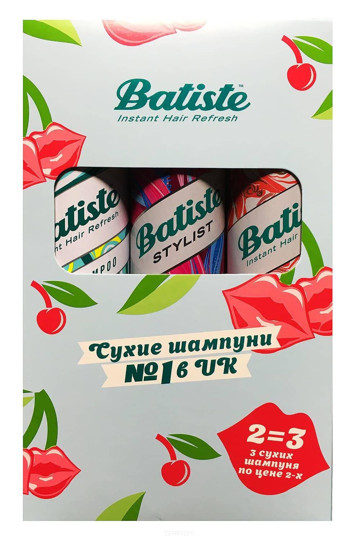 Batiste Набор XXL Volume Spray спрей для объема 200 мл и шампуни сухие Original + Rose Gold, 2x200
