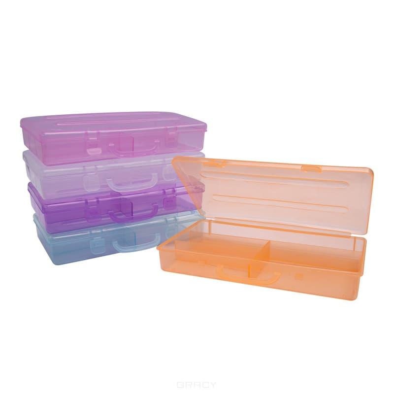 Planet Nails Пенал пластиковый (5 цветов), 1 шт, Оранжевый koudou прозрачный оранжевый
