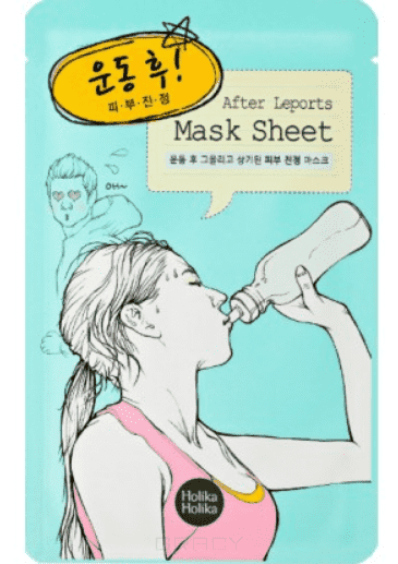 Holika Holika Маска тканевая для лица После спорта After Mask Sheet-After Leports, 16 мл тканевая маска holika holika juicy mask sheet honey