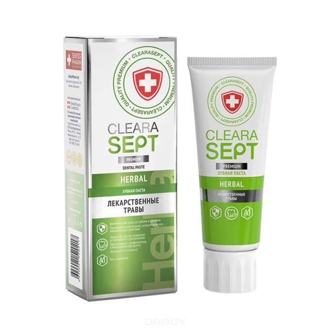 ClearaSept - Зубная паста HERBAL Лекарственные травы, 75 мл