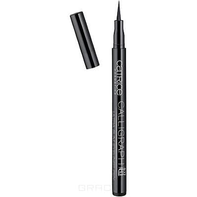 Catrice Подводка для глаз Calligraph-Ultra Slim Eyeliner Pen, тон 010, черный, Подводка для глаз Calligraph-Ultra Slim Eyeliner Pen, тон 010, черный, 1 шт для глаз catrice the modern matt collection eyeshadow palette 010 цвет 010 the must have matts variant hex name b19f9b