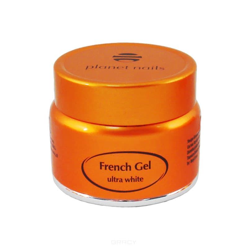 Planet Nails Гель френч Ultra White French Gel ультра-белый густой вязкости, 15 г дизайн ногтей essence накладные ногти french click