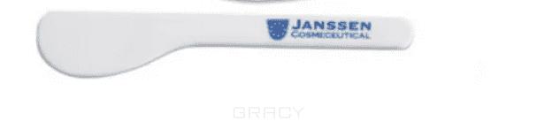 Janssen Шпатель с логотипом, 1 шт igrobeauty шпатель пастмассовый для масок малый 15 см 2 цвета желтый 1 шт
