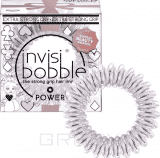 Invisibobble Резинка для волос искристый розовый POWER Princess of the Hearts, 3 шт