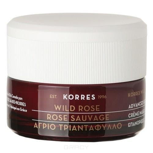 Korres Крем-маска с дикой розой для интенсивного ночного восстановления для всех типов кожи, 40 мл