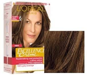 LOreal, Краска для волос Excellence Creme (32 оттенка), 270 мл 6  Темно-русый