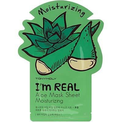 Tony Moly, Тканевая увлажняющая маска с экстрактом алоэ Im Real Aloe Mask Sheet Moisturizing, 21 мл