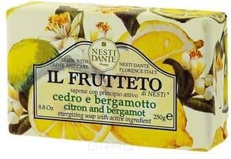 Nesti Dante Мыло Лимон и бергамот Il Marsiglietto Di Nesti, 100 гр. масла grosheff массажная плитка виноградная косточка и лимон 150 гр