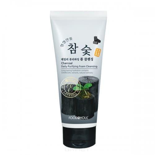 Купить FoodaHolic - Пенка для умывания с экстрактом черного угля Charcoal Daily Purifying Foam Cleansing, 180 мл