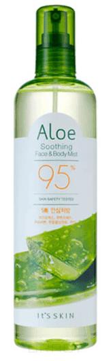"""Купить со скидкой It's Skin - Мист для лица и тела """"Алоэ вера 95%"""" Aloe Soothing Face & Body Mist 9"""