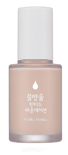 Holika Holika ББ крем-флюид Вотер Дроп Water Drop Tinted Foundation, 30 мл (3 тона), 30 мл, Тон 01 Бежевый (01 Pale) тональная основа тинт holika holika water drop tinted foundation