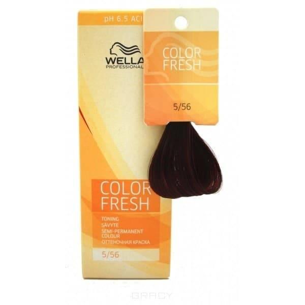 Wella, Оттеночная краска для волос Color Fresh Asid без аммиака, 75 мл (10 оттенков) 5/56 рубин