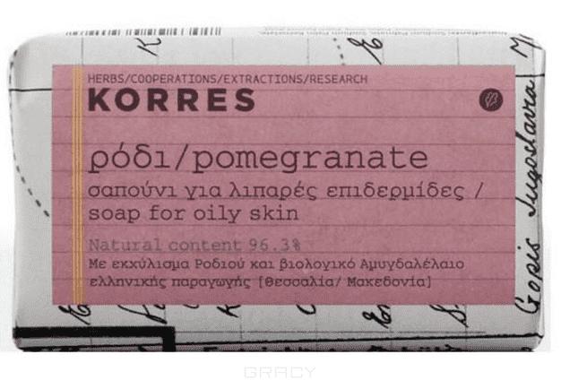 Korres Мыло для лица для жирной кожи с гранатом, 125 г