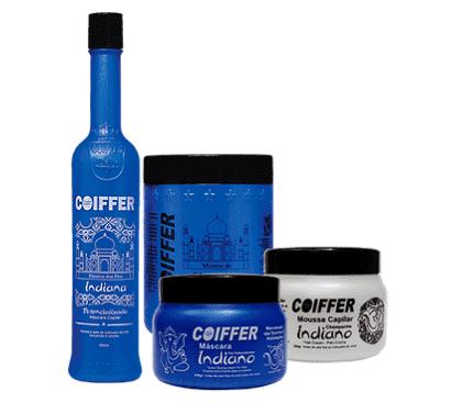 Coiffer Набор разглаживание, интенсивное питание и увлажнения волос Indiano (2 шт х 250 г + 300 мл)