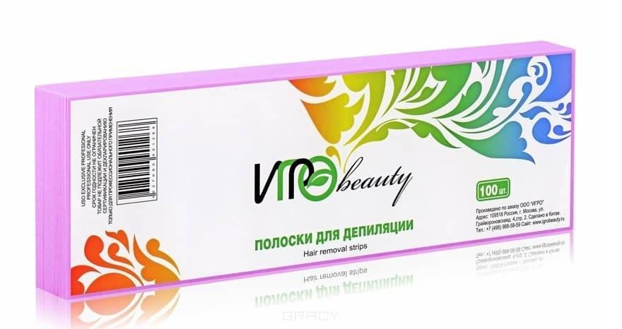 Igrobeauty, Бумага в полосках для депиляции, 7х22 см (5 цветов) Розовая