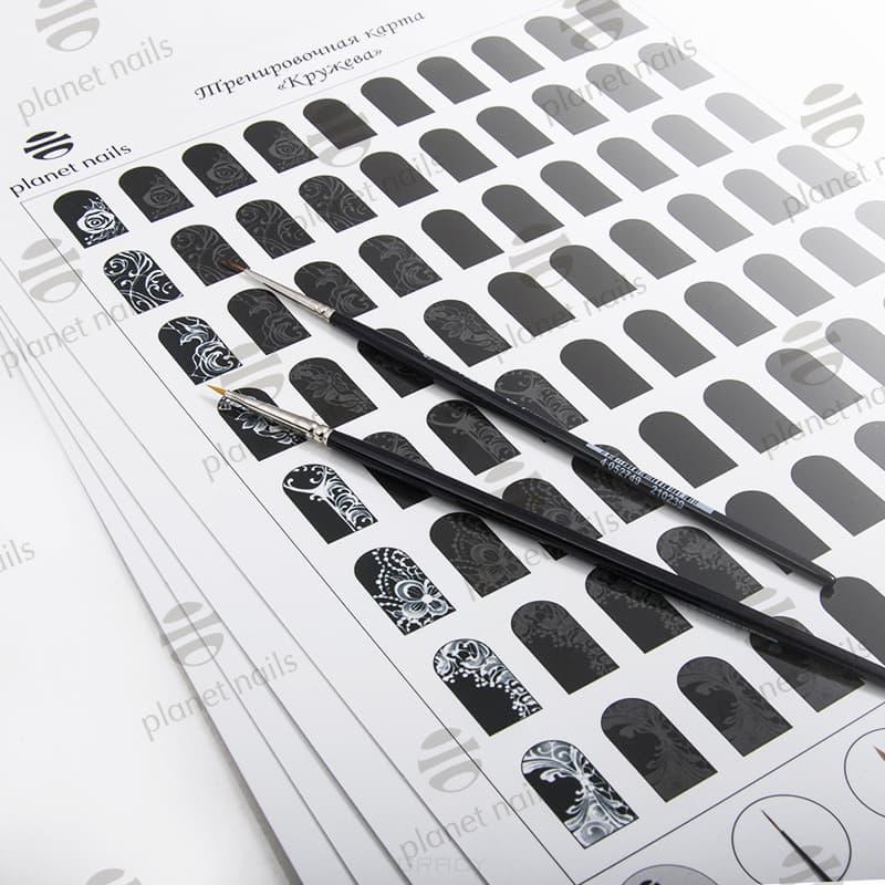 Planet Nails Тренировочные карты (4 вида), 1 шт,