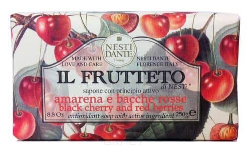 Nesti Dante Мыло Черешня и красные ягоды IL Frutteto, 250 гр nesti dante мыло horto botanico огурец 250 г