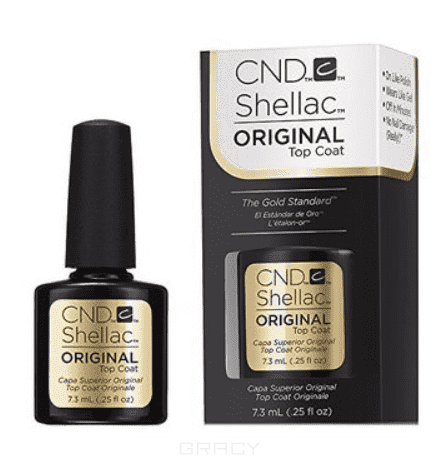 CND (Creative Nail Design) Верхнее покрытие Shellac UV Original Top Coat, 7,3 мл cnd creative nail design базовое покрытие shellac uv base coat 7 3 мл