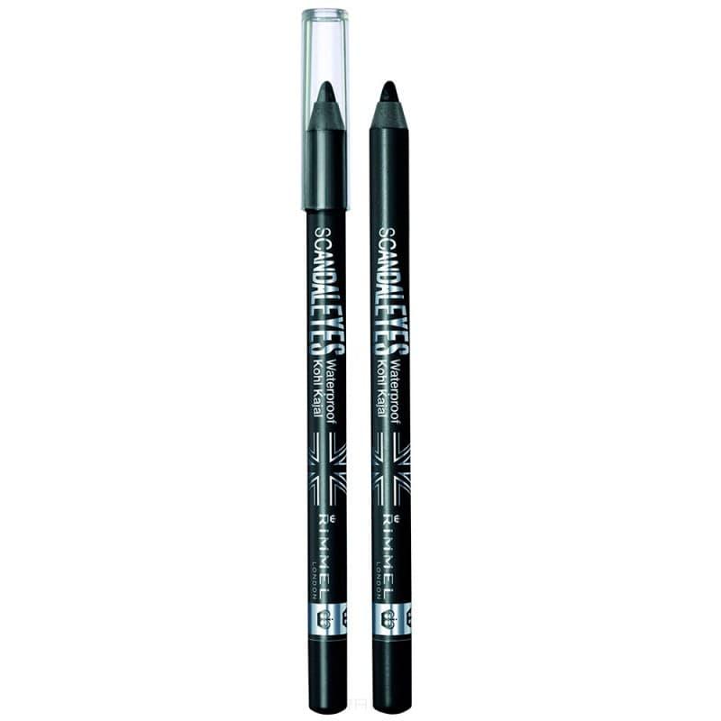 Rimmel Стойкий карандаш для век Scandaleye`s Kohl, 1.2 гр (3 тона), 1.2 гр, Тон 001 Black catrice контур для глаз kohl kajal 040 white белый 1 1гр