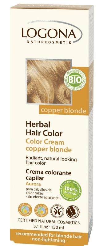 Logona Крем-краска для волос, 150 мл (4 оттенка), 150 мл, Медный блондин краска для волос matrix color sync 8wn цвет 8wn светлый блондин теплый натуральный variant hex name 7c583e