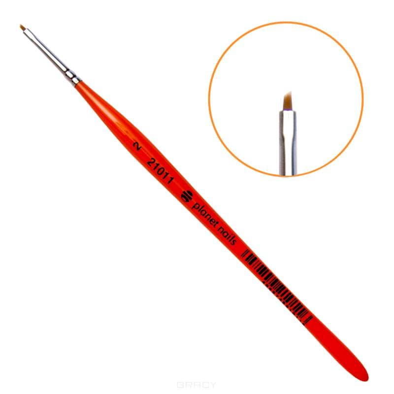 Planet Nails Кисть для китайской росписи из синтетического волоса скошенная, 1 шт, №3 кисть для китайской росписи из синтетического волоса скошенная